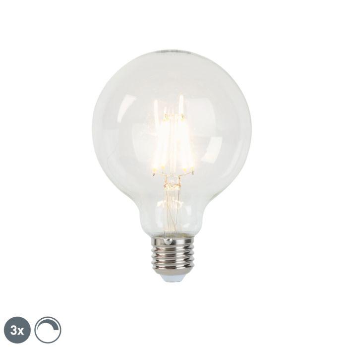 Sada-3-stmievateľných-žiaroviek-LED-E27-G95-5W-470-lm-2700K