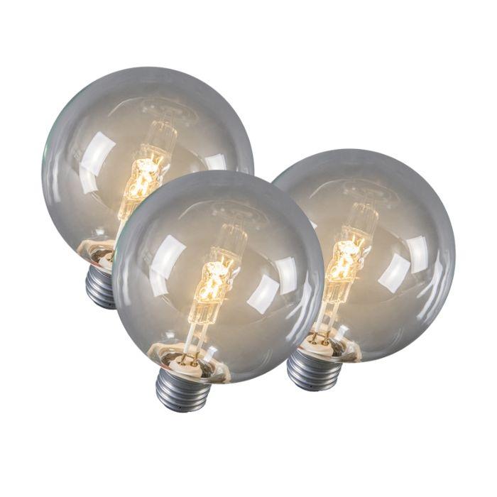 Sada-3-halogénových-žiaroviek-E27-Globe-95-mm