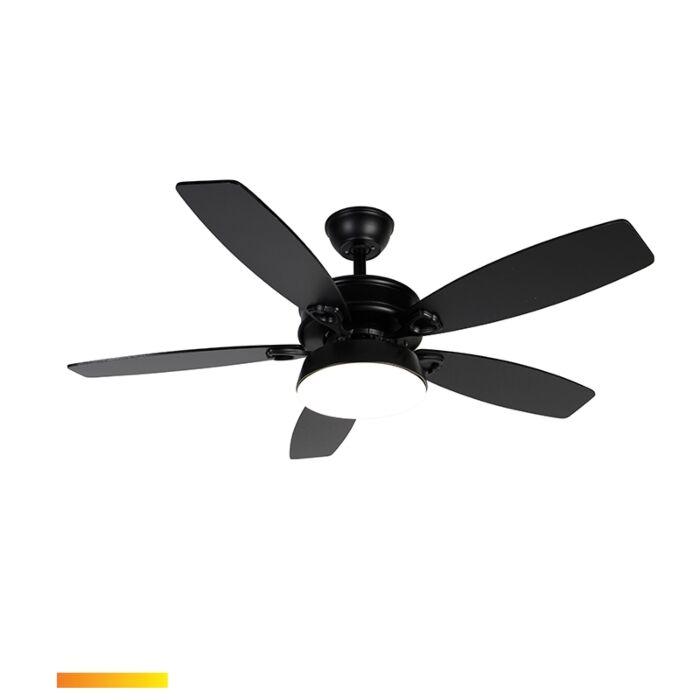 Stropný-ventilátor-čierny-s-diaľkovým-ovládaním-vrátane-LED---Malaki