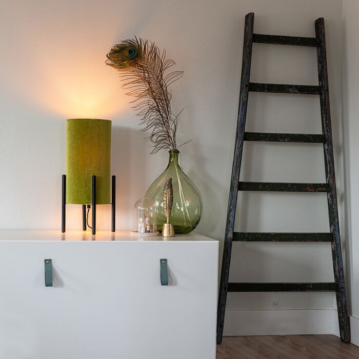 Dizajnová-stolná-lampa-čierny-zamatový-odtieň-zelený-so-zlatou---Rich