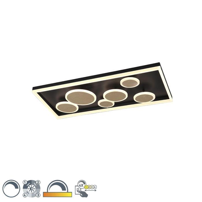 Dizajnové-stropné-svietidlo-čierne-80-cm-vrátane-LED-stmievateľné---Nicky