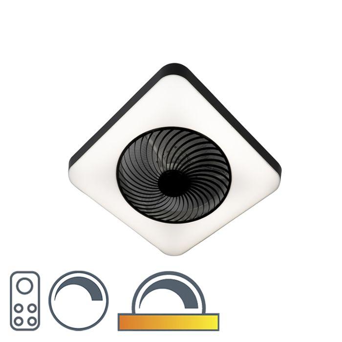 Stropný-ventilátor-hranatý-čierny-vrátane-LED-stmievateľných---Climo