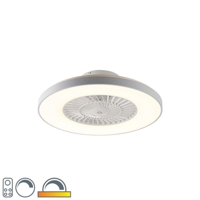 Stropný-ventilátor-biely-s-hviezdnym-efektom-stmievateľný---Climo