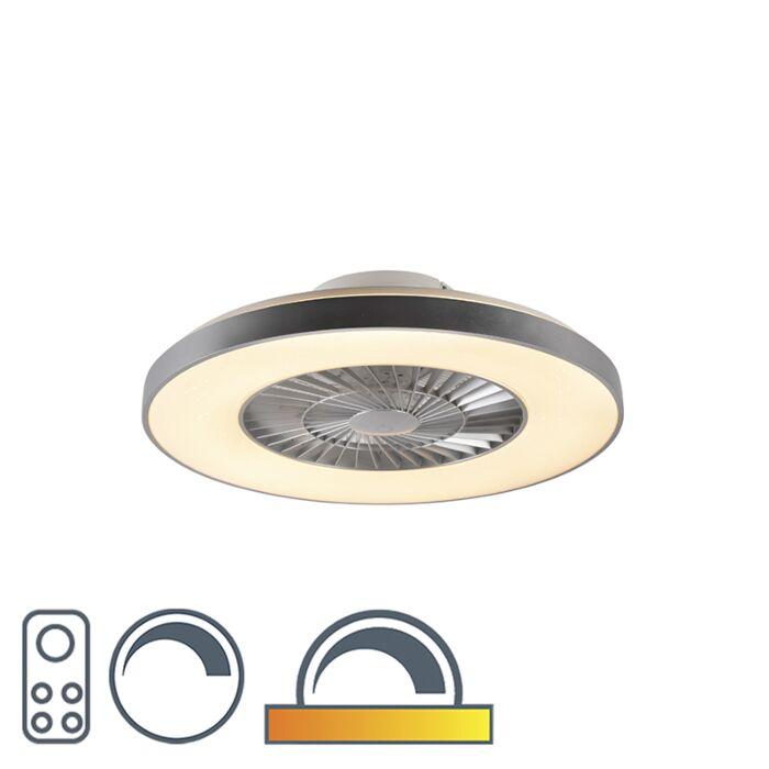 Stropný-ventilátor-strieborný-s-hviezdnym-efektom-stmievateľný---Climo