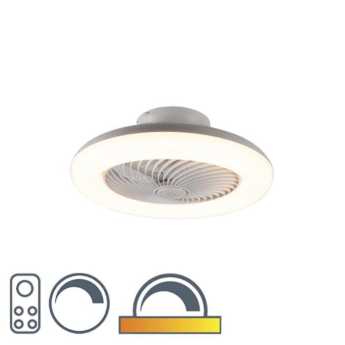 Dizajnový-stropný-ventilátor-biela-vrátane-LED-stmievateľných---Clima