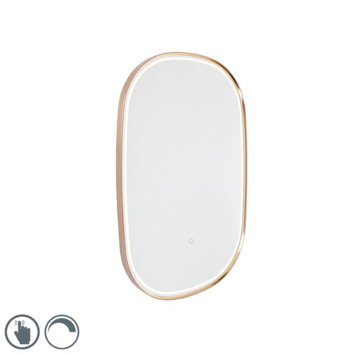 Kúpeľňové-zrkadlo-medené-vrátane-LED-s-dotykovým-stmievačom-oválne---Miral