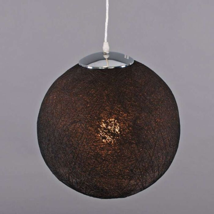 Závesná-lampa-Hemp-35-čierna