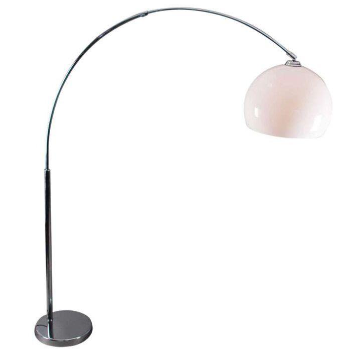 Oblúková-žiarovka-chróm-s-bielym-tienidlom-plexi