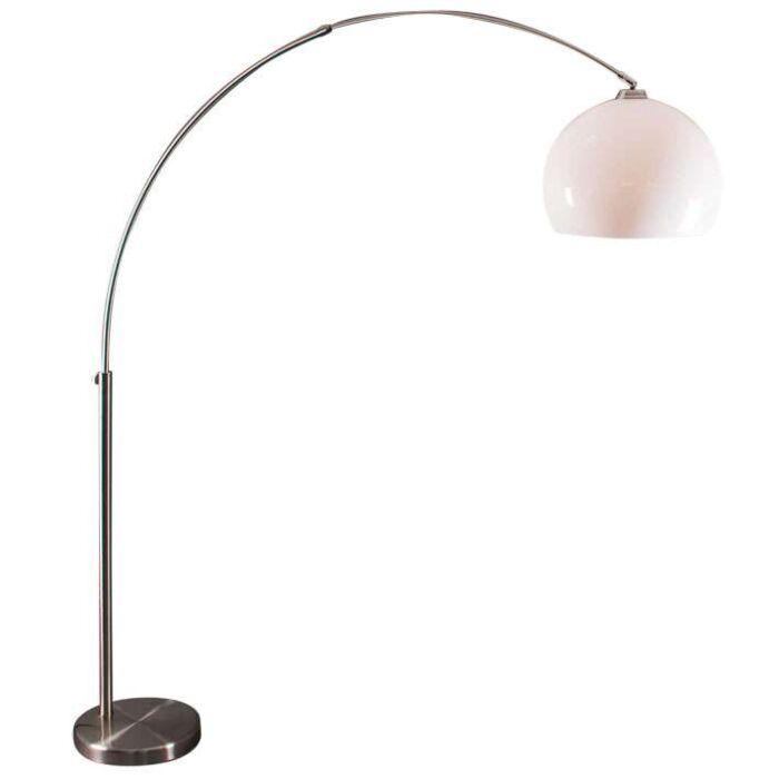 Oblúková-lampa-z-ocele-s-bielym-tienidlom-plexi