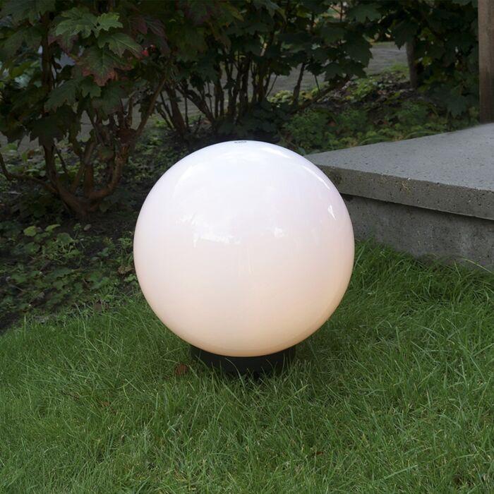 Moderné-vonkajšie-svietidlo-s-hrotom-hrotu-30-cm-IP44---guľa
