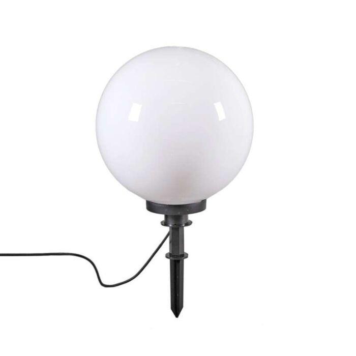 Moderné-vonkajšie-svietidlo-s-hrotom-hrotu-40-cm-IP44---Guľa
