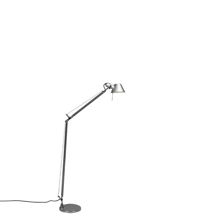 Podlahová-lampa-Artemide-hliníková-nastaviteľná---Artemide-Tolomeo-Lettura