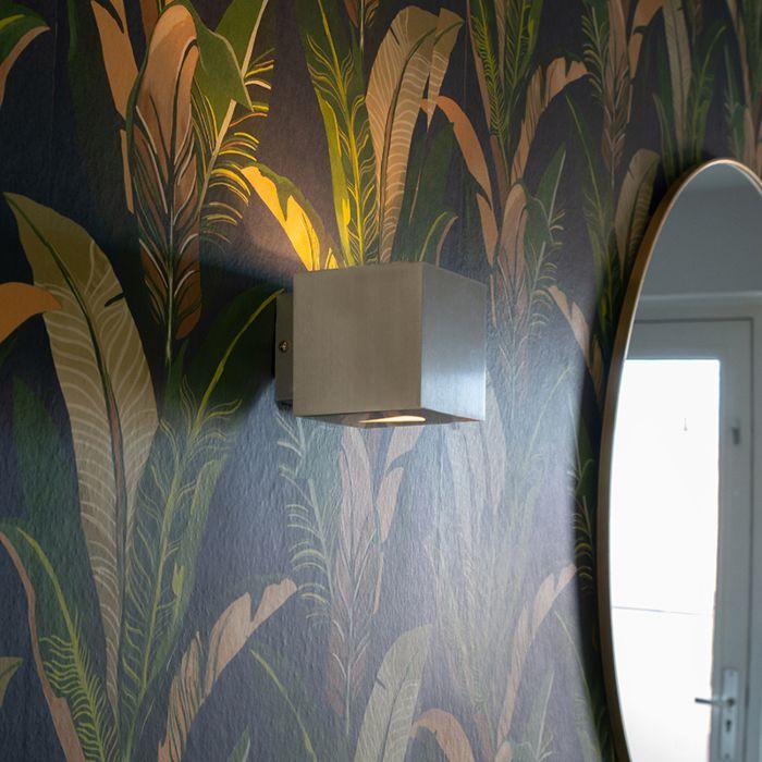 Moderné-nástenné-svietidlo-hliníkový-štvorec---efekt