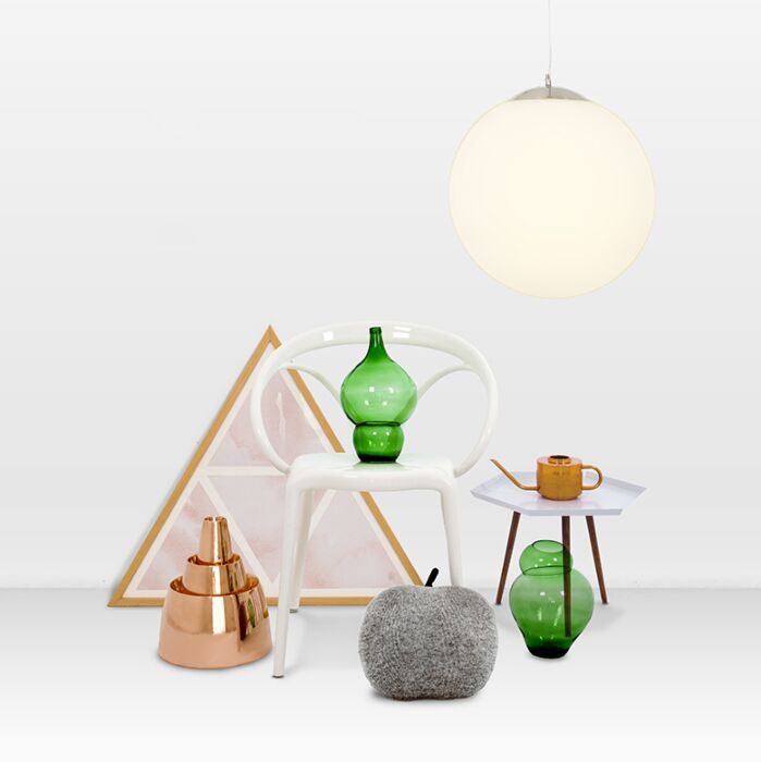 Moderné-závesné-svietidlo-sklo-40cm---guľa