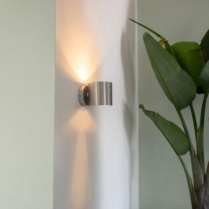 Moderné-nástenné-svietidlo-hliníkové-okrúhle---efekt