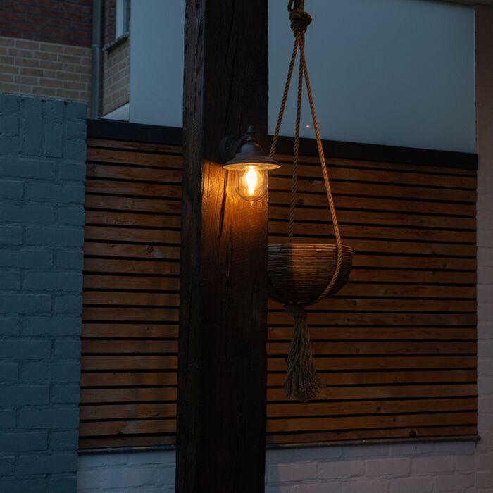 Romantické-vonkajšie-nástenné-svietidlo-tmavošedé---Oxford