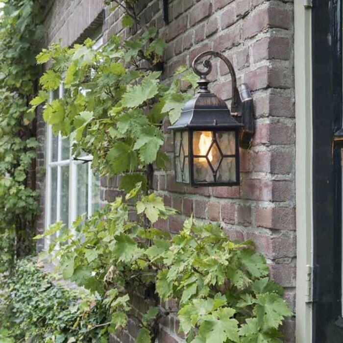Romantické-vonkajšie-nástenné-svietidlo-bronz---Londýn