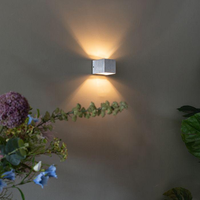 Moderné-nástenné-svietidlo-hliníkové---Transfer