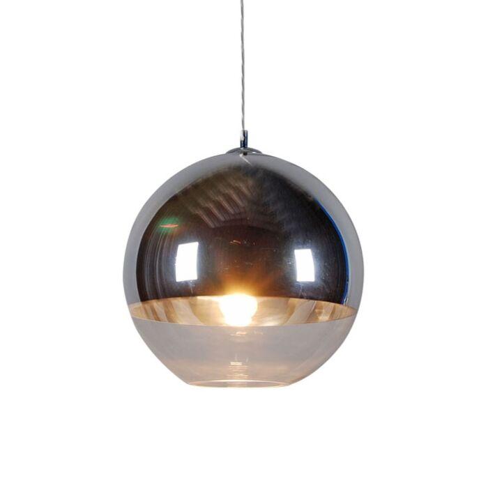Závesná-lampa-Ball-40-strieborná