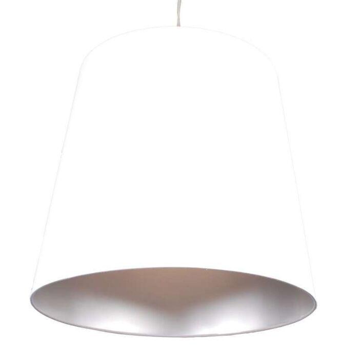 Závesná-lampa-Tienidlo-biele-strieborné