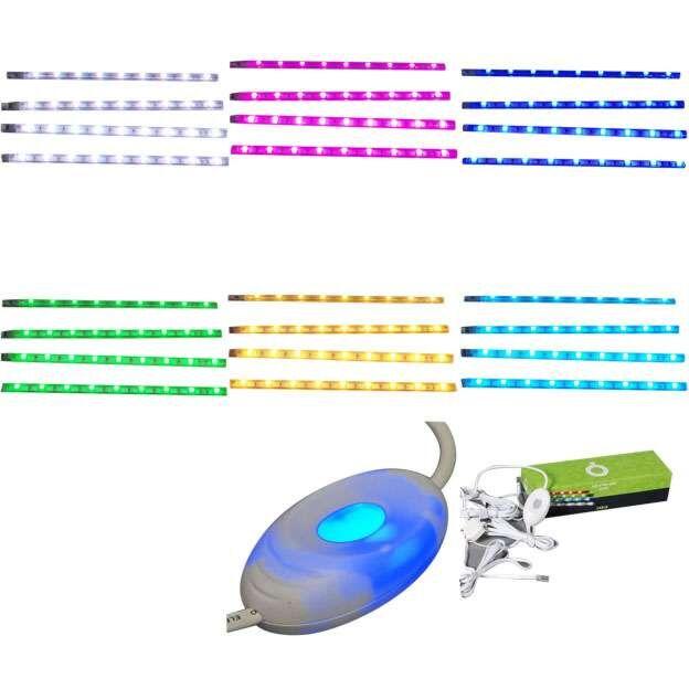 Sada-štyroch-LED-pásikov-RGB