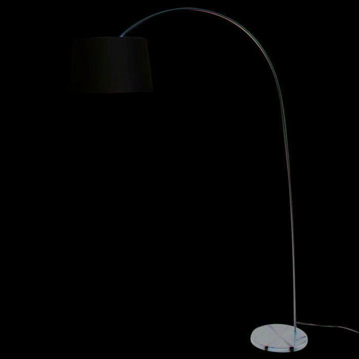 Oblúková-lampa-Tienidlo-z-ľahkej-ocele-krémovo-biele