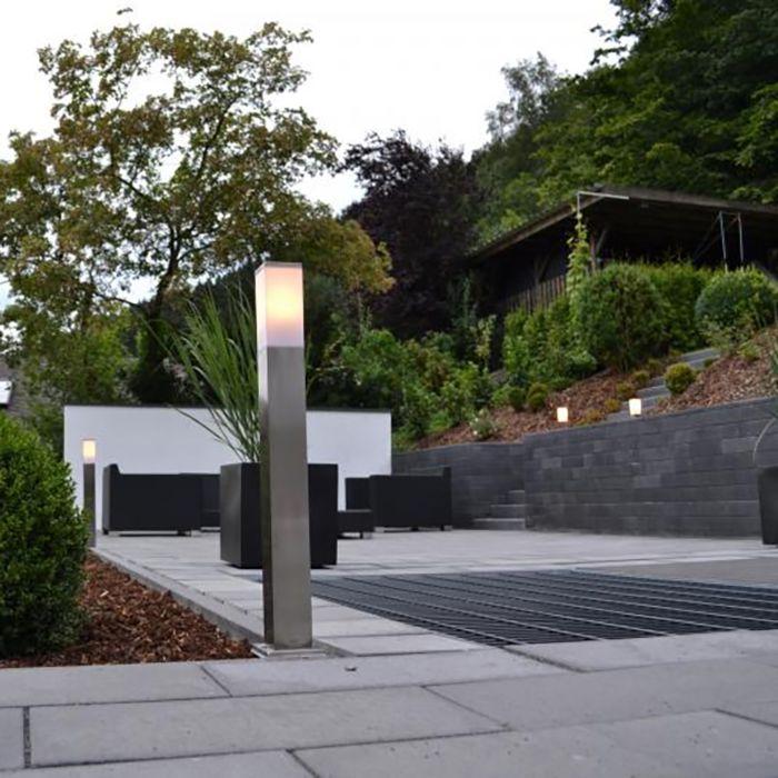 Moderné-vonkajšie-svietidlo-80-cm-oceľ---Malios