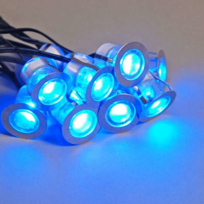 Komo-LED-inštalačná-sada-10-kusov-IP65-modrá