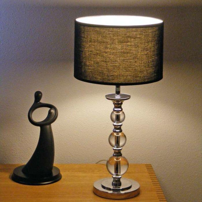 Stolová-lampa-Calabash-chróm-s-čiernym-tienidlom