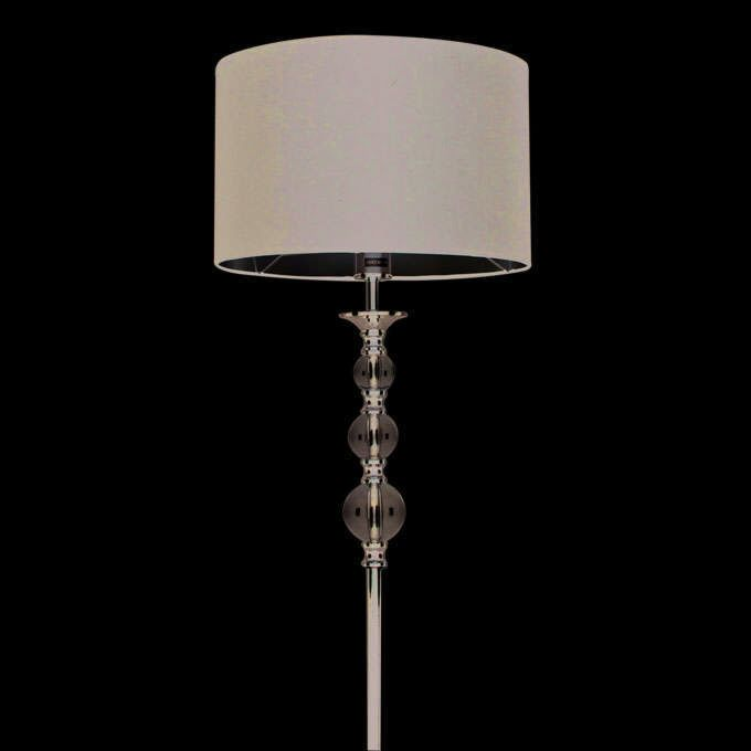 Stojacia-lampa-Calabash-chróm-s-čiernym-tienidlom