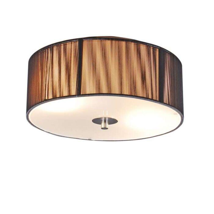 Klasické-stropné-svietidlo-antracit-30-cm---Lano