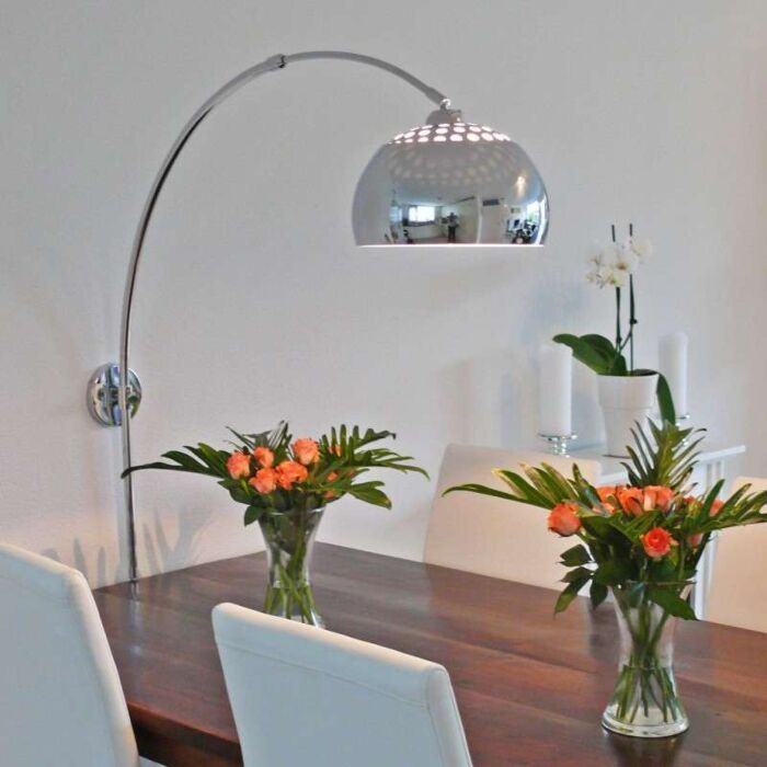 Oblúková-lampa,-chróm