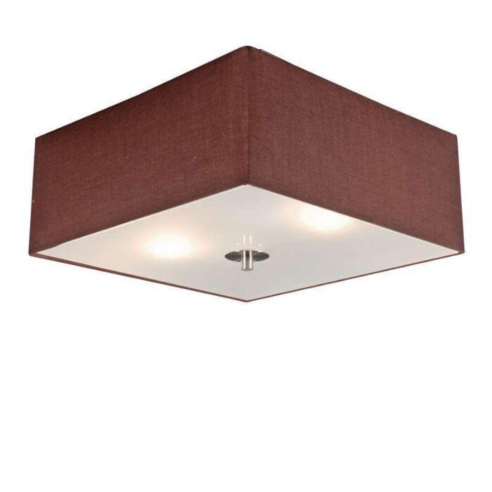 Stropná-lampa-Drum-35-štvorcová-hnedá