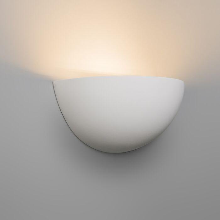 Moderné-nástenné-svietidlo-biela-omietka---Gipsy