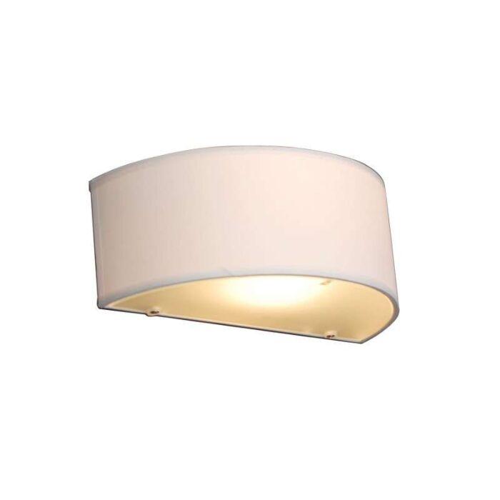 Vidiecka-nástenná-lampa-s-okrúhlym-krémom---Drum
