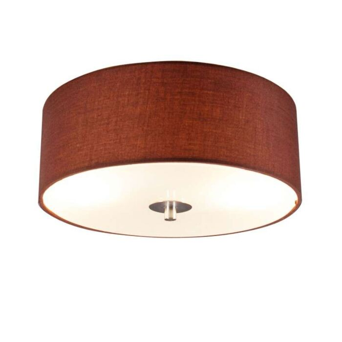 Stropná-lampa-Drum-30-guľatá-hnedá