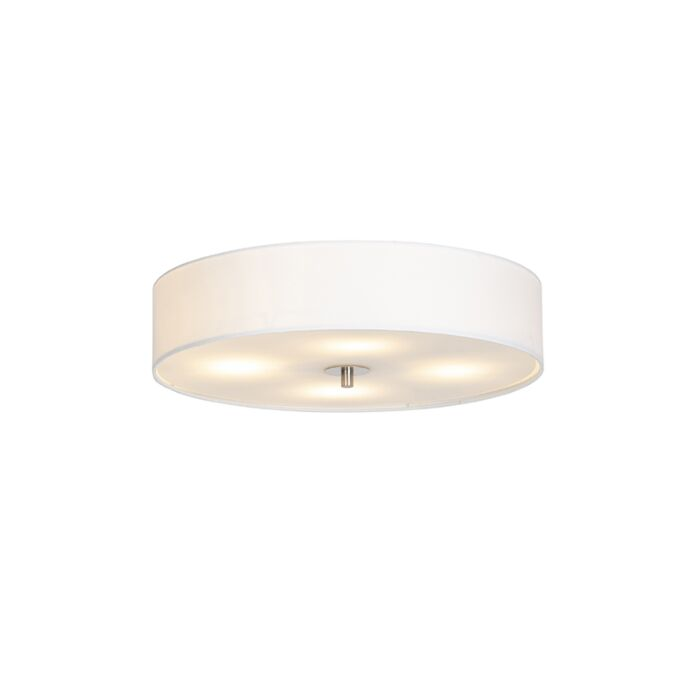 Vidiecka-stropná-lampa-biela-50-cm---bubon