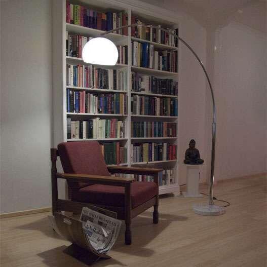 Veľká-oblúková-lampa-chróm-Basic