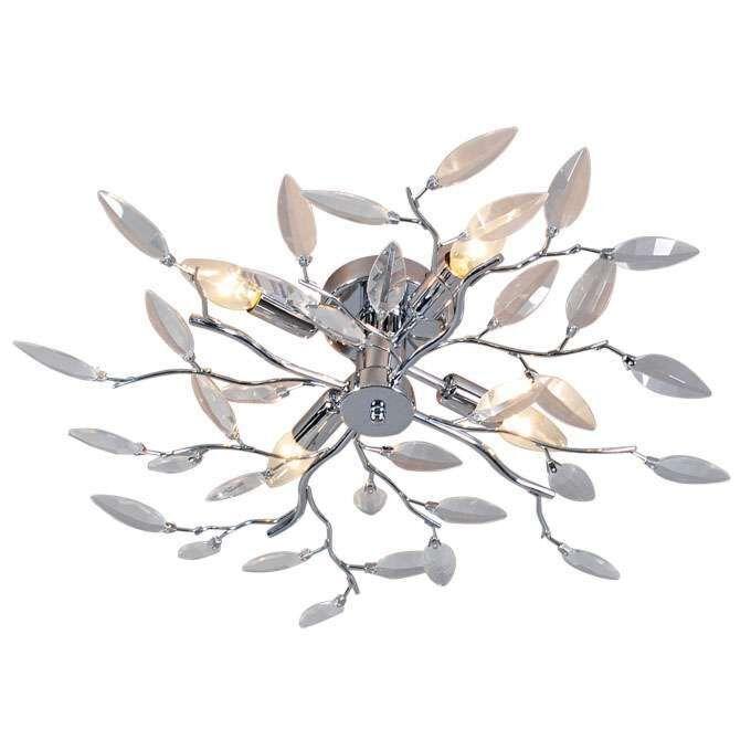 Stropné-svietidlo-Forest-4-Glass-chrome