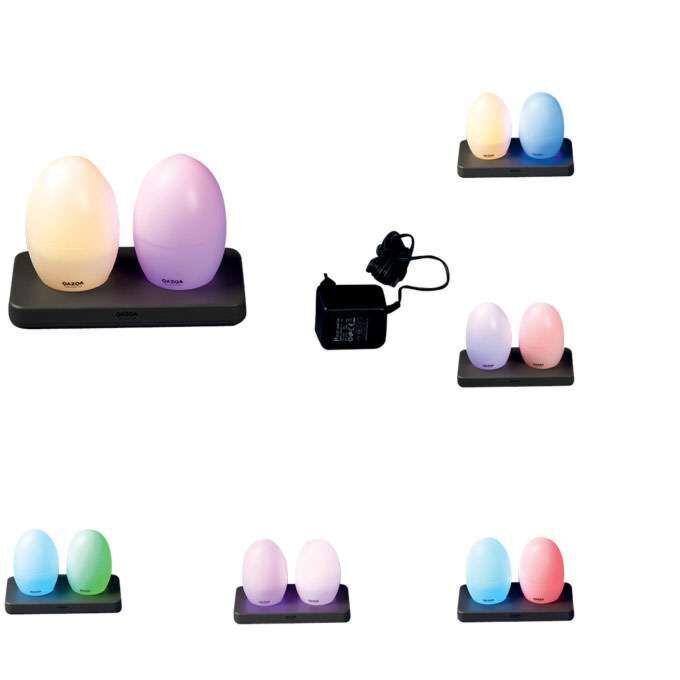 Sada-dvoch-LED-žiaroviek-EGG-nabíjateľných