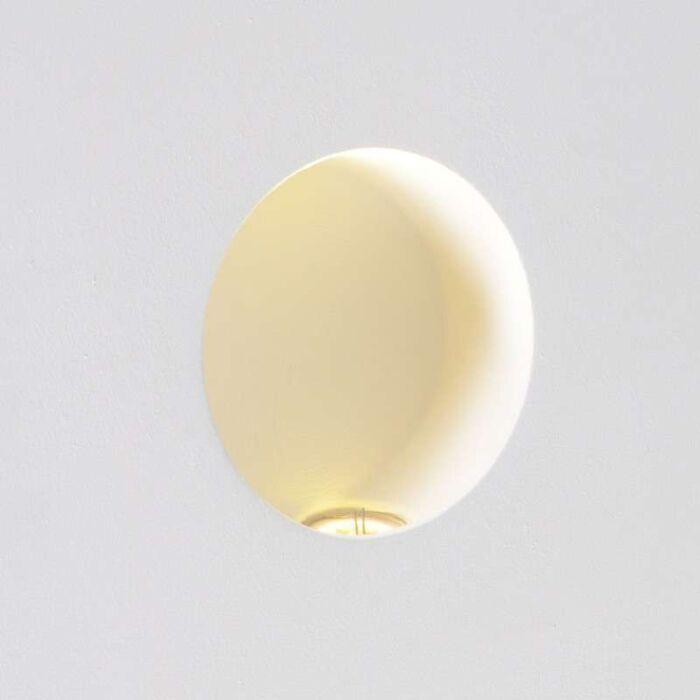 Nástenné-svietidlo-Nulové-okrúhle-LED-zapustené