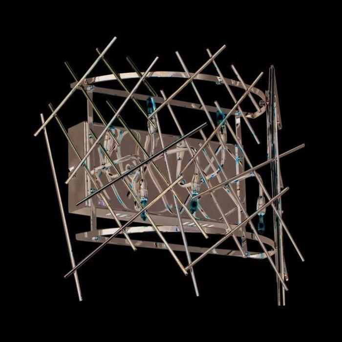 Nástenné-svietidlo-Forest-5-chróm