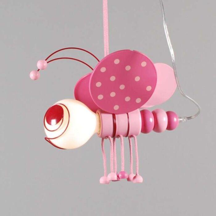 Závesná-lampa-Kids-Bee-Pink