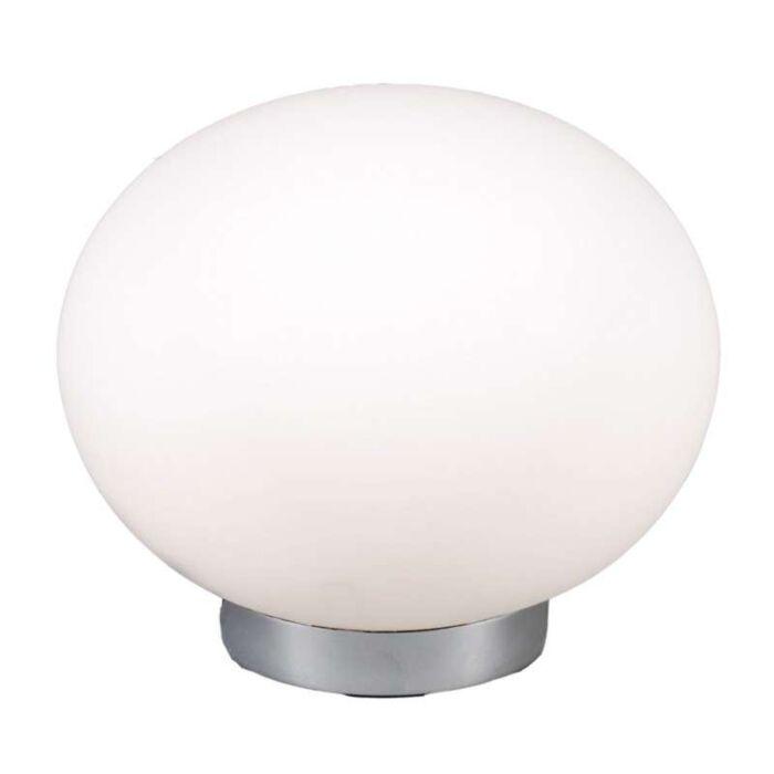 Stolová-lampa-Ball-24-oceľ-s-bielym-sklom