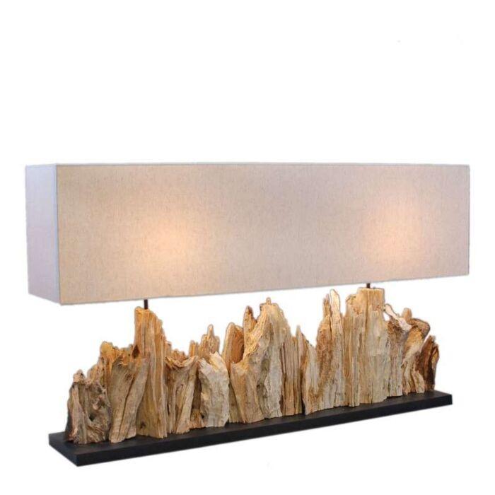 Stolová-lampa-Thak-Extra-Grande-(115cm-!!)-s-ľanovým-tienidlom