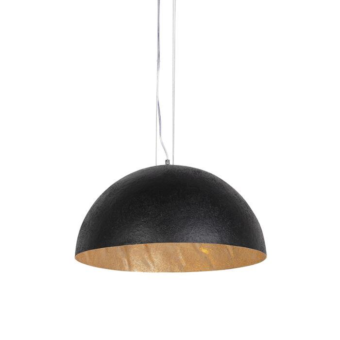 Priemyselná-závesná-lampa-čierna-so-zlatom-50-cm---Magna