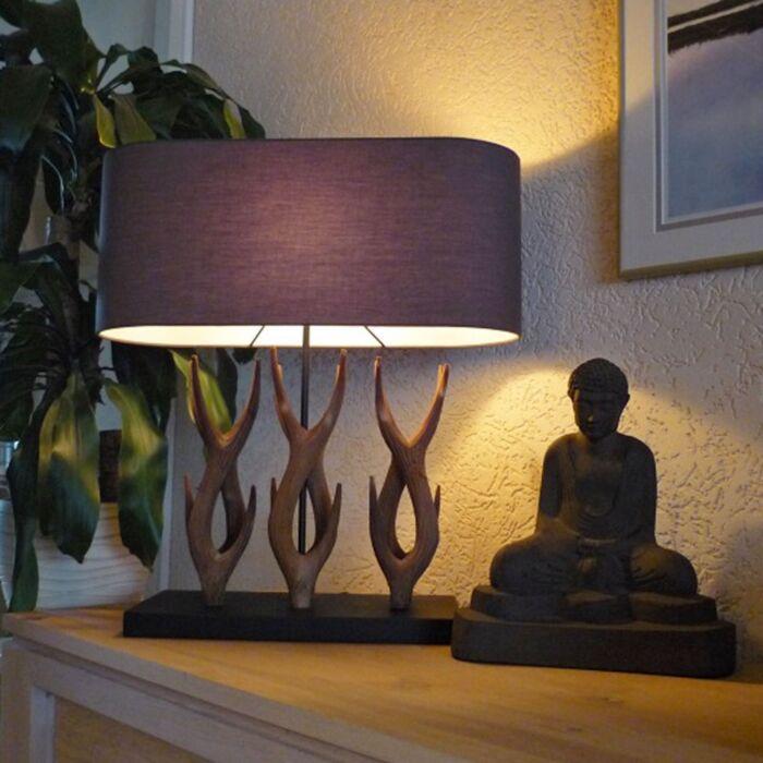 Vidiecka-stolná-lampa-Yindee-Recta-s-hnedým-odtieňom