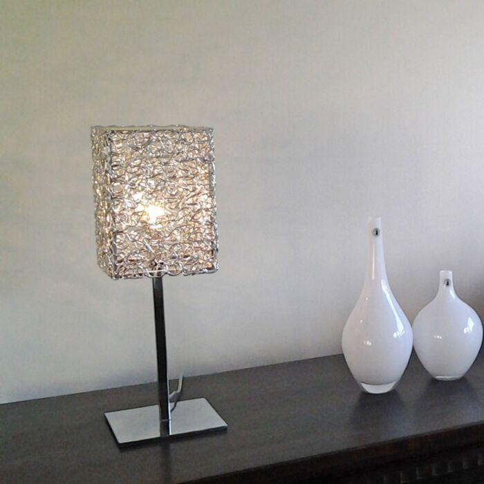 Stolová-lampa-Draht-Square-L-hliníková