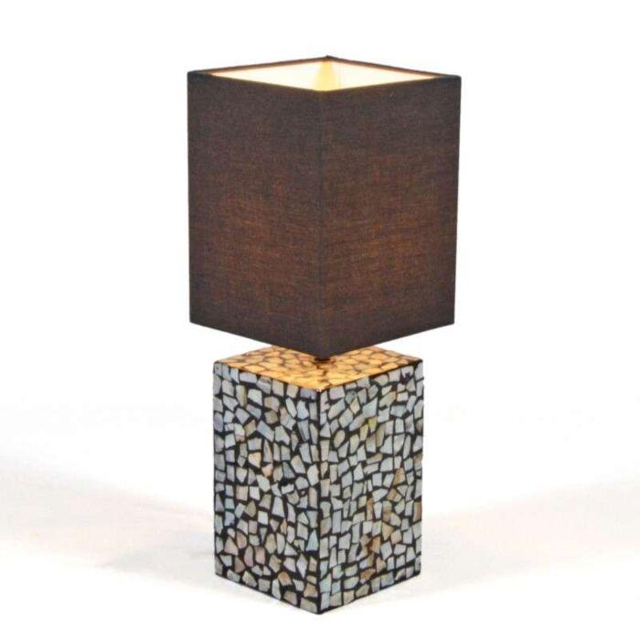 Stolová-lampa-Pearl-s-čiernym-tienidlom