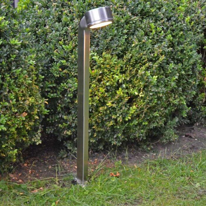 Vonkajšie-svietidlo-Hadia-tyč-68cm-nerezová-oceľ